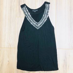 Forever 21 Black Tank w/ Sequins Small